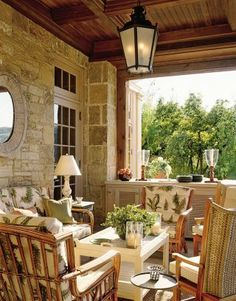 David Easton Creates a French Country Inspired Retreat Outside of Aspen The loggia. Iron table from Outdoor Areas, Outdoor Rooms, Outdoor Dining, Outdoor Decor, Decks And Porches, Tuscan Style, Architectural Digest, My Dream Home, Gazebo