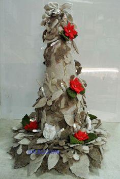 Aberello natalizio  30 cm con illuminazione  www.rp-creazioni.it