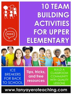 Building a classroom community at the start of the year is so important for your upper elementary students. Read about 10 team building activities or elementary icebreakers that you can use the first week of school. Perfect for the back to school season.
