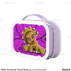"""Baby Triceratop"" Lunch Boxes"