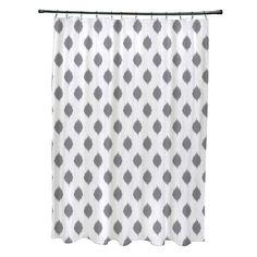 e by design Cop-Ikat Geometric Print Polyester Shower Curtain | AllModern
