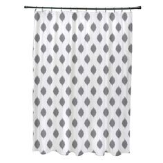 e by design Cop-Ikat Geometric Print Polyester Shower Curtain | AllModern