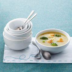 Soupe crémeuse poulet et brocoli