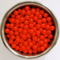 Red Pearl Candy Bead Edible Cupcake Decorations