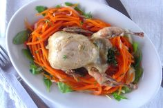 Braised Quail on Fennel & Carrot Salad Nest Pressure Cooker