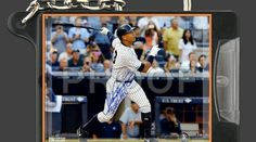New York Yankees Alex Rodriguez signed 3000th hit photo keychain. MLB Sports. High Resolution. Reprint.