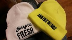 Online Shop Sorry I'm FRESH & bad hair day knit beanie cap ski bonnet skullies winter hats for women men,touca gorro feminina inverno | Aliexpress Mobile