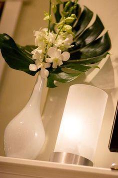 Tropical floral arrangement - simple but effective.