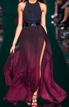 gorgeous jewel toned ombre dress