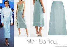 HILLIER BARTLEY Quilted jacquard midi skirt
