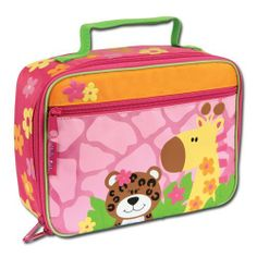 Stephen Joseph Lunchbox, Girl Zoo by stephen joseph kitchen. $16.00. Velcro strap to holds drinks in place. Coordinates with stephen joseph go-go bags and stainless steel water bottles. Zipper closure. Stephen Joseph's Lunchboxes are fully lined and insulated and feature a zipper closure. Inside is a mesh pouch and velcro strap to hold drinks in place. Wipe Clean.
