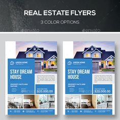 Corporate Flyer, Corporate Identity, Business Brochure, Business Flyer, Presentation Magazine, Promotion, Real Estate Flyer Template, House Property, Real Estate Flyers