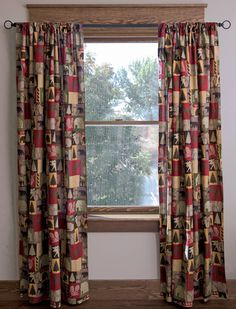 Cabin in the Woods Lined Drape set