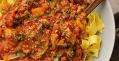 Apple-Pork Ragu with Papardelle