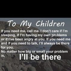 I want to give this to all my kids in CAPITAL letters. I've always told them this, but it never hurts to reinforce it!