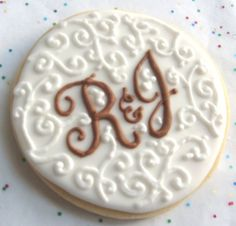 Chantilly and Lace  Monogrammed Wedding Cookies  by lorisplace, $3.75