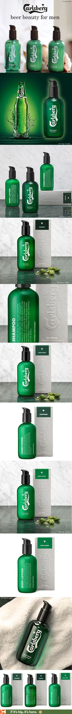 Carlsberg launches Beer Beauty: Grooming products for men made with real beer.