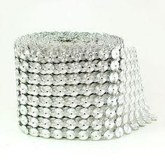 Metallic Coin Mesh Wrap (30 feet)