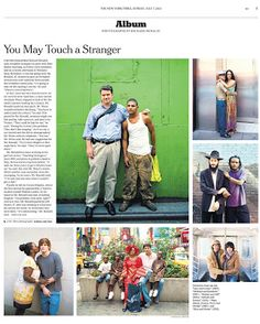 This guy is amazing! Richard Renaldi's Photography Blog: Touching Strangers in the Sunday NY Times