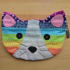 Rainbow Kitty Pouch
