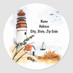 30 Custom Sea Shell Art Personalized Address Labels