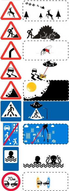 Uncropped Road Signs