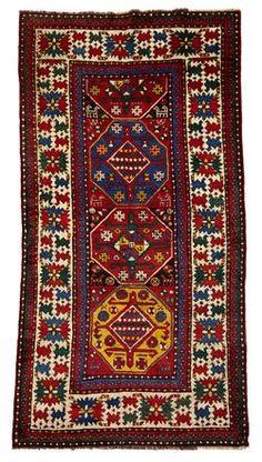Kazak Rug Southwest Caucasus Circa Late 19th Century