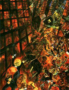 GEORGE GROSZ. La representación de la ciudad como un caos le une a la estética del movimiento expresionista. Su estilo, ácido y desgarrado, conjuga elementos del futurismo, el constructivismo y el dadaísmo.