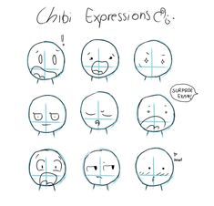 Chibi Expressions by =Tawiie on deviantART