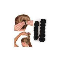Hair Bun Maker ($10) ❤ liked on Polyvore featuring beauty products, haircare, hair styling tools, accessories and wig