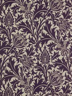 arts and crafts wallpaper designs | Sanderson William Morris Thistle Wallpaper, £45, John Lewis