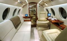 The only way to travel. Falcon 2000