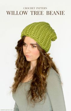 FREE Crochet Pattern - Chunky Willow Tree Slouchy Beanie