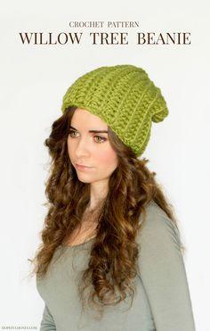 craft, chunki willow, crochet free patterns, hat patterns, beanie crochet pattern, tree slouchi, crochet patterns, willow tree
