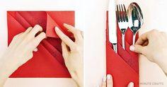 Eine kreative Weise, Servietten für Ihren Feiertagstisch zu falten