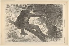 Winslow Homer | The Army of the Potomac – A Sharp-Shooter on Picket Duty – From a Painting by Winslow Homer, Esq. (Harper's Weekly, Vol. VII) | The Met