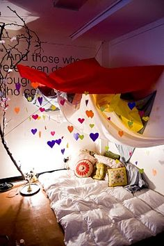 A Valentine's Day fort? Why yes...who wouldn't want one? from Li is for Lovely