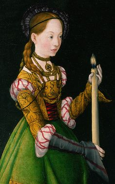 Saint Genevieve - Lucas Cranach the Elder