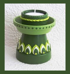 Pedestal Candle Holder no 1 by RFColorfulCreations on Etsy, $12.00