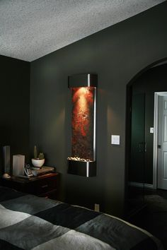 Bon Wall Fountain In The Bedroom Is Soothing   Water Features For Tranquility  In Your Home