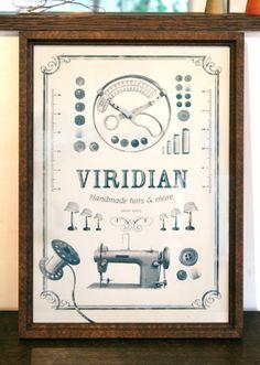 Viridian_oridinal_poster_Retro by masaomi fujita, via Behance