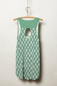 anthro back cutout, love the simple twist on a tank and fun color #stitchfix