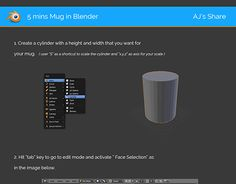 "Check out new work on my @Behance portfolio: ""5 Mins Mug Modeling in Blender"" http://be.net/gallery/40949035/5-Mins-Mug-Modeling-in-Blender"
