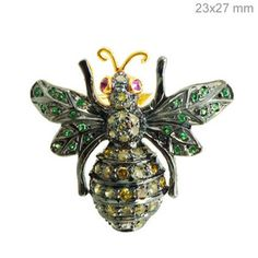 antique bee jewelry   ... Diamond Pave Ruby Bee Ring 925 Sterling Silver Fine Jewelry   eBay