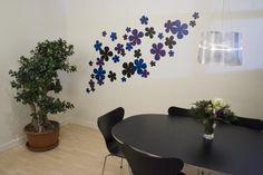 Wzory kwiatowe na ścianie