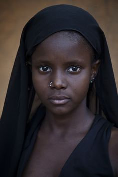 Stunning, black beauty! Portrait of a young girl from Gao, Mali #people
