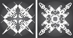 Star Wars Paper Snowflakes