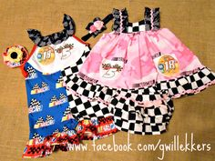 Baby and Toddler Custom Nascar sets.... gwillekkers on facebook. :D