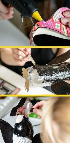 Upcycling: Bastelt einen Pinguin aus Flaschen!