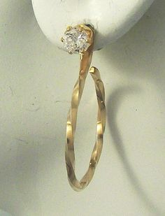 EARRING JACKETS 14k Gold filled  Square Wire Twisted by earcuffs, $22.00